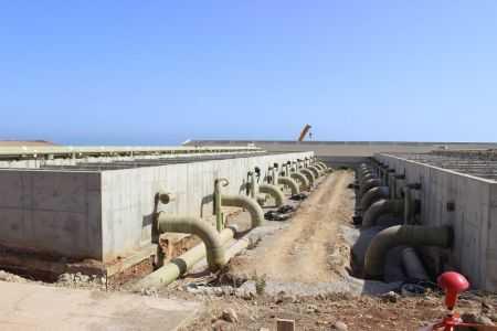 edificio de filtros de arena, Desaladora de Ténes